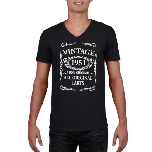 68th Birthday Present Gift Year 1951 All Original Parts Funny Retro T-Shirt