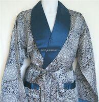 Gift Mens Silk Satin Pajamas Kimono Robe Gown Loungewear Us S To 4xl