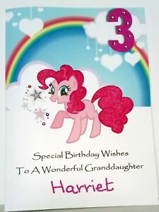 Image Is Loading My Little Pony Personalised Birthday Card Daughter Sister