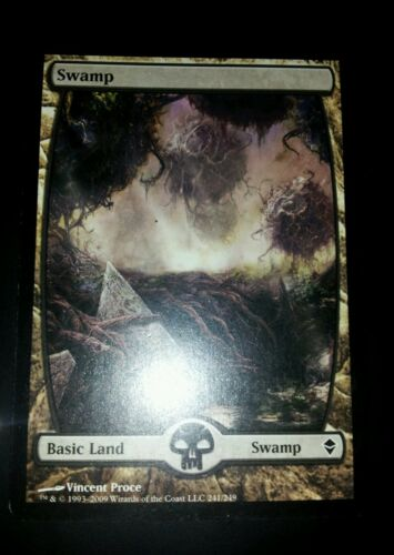 4 Swamps #241 ~ Zendikar Full Art Land Common MTG magic 4x x4
