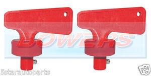 Paire De Batterie Rouge Coupé Tuer Languette Commutateur De Rechange Clés Fia Marine Auto-afficher Le Titre D'origine Xkdyjvbu-07224804-781372029