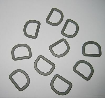 Details about  /New 10pcs 1 inch 25mm Plastic Molle Webbing D rings ACU Foliage Green Airsoft
