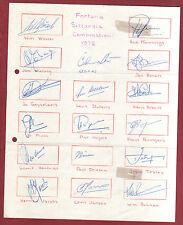 17 Orig.Autogramme   FORTUNA SITTARD (Niederlande)  - 1972/73  !! SEHR SELTEN