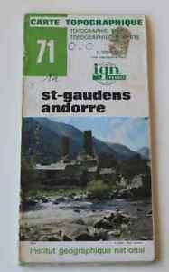 Carte-randonnees-France-IGN-Topographique-1-100000-71-St-Gaudens-Andorre