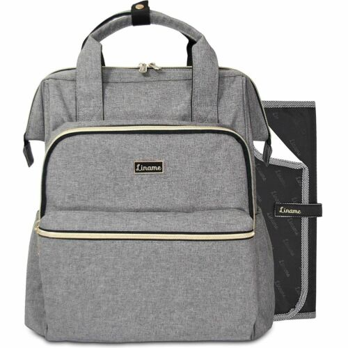 Premium Changing Bag Backpack by Liname Extra Wide Zip Opening Large