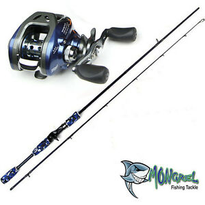 New-Baitcaster-Rod-amp-Reel-Combo-Kayak-Land-Based-Boat-Jetty-RH-Bass-Loomis-Rod