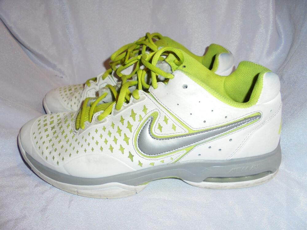Nike Air Cage Advantage Hommes Blanc/Feuille Lacets Baskets Taille UK 9 EU 44 US 10-