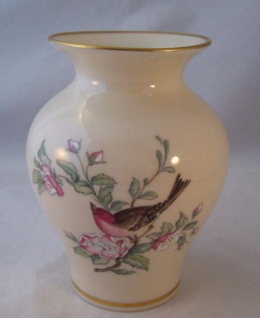 Lenox Porcelain Cosmopolitan Serenade Medium Vase Usa Bird Floral