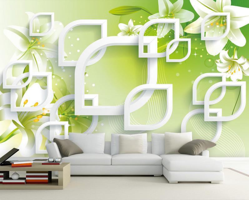 3D Lily Kunststil 9755 Tapete Wandgemälde Tapete Tapeten Bild Familie DE Summer
