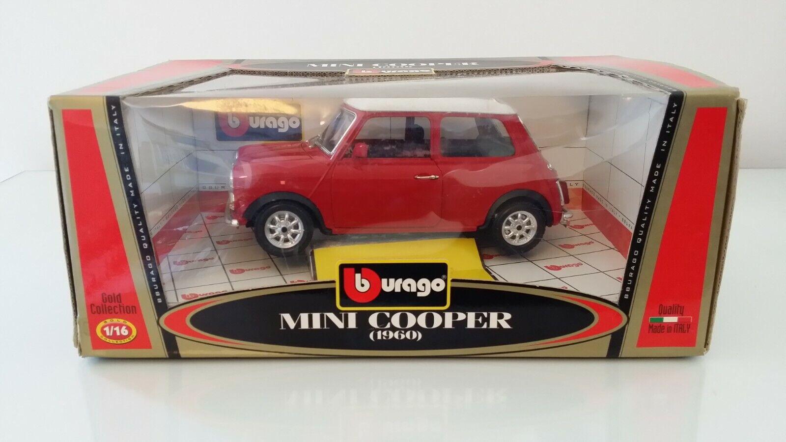 Burago Colección De oro En Caja De Mini Cooper 1960 3379 1 16