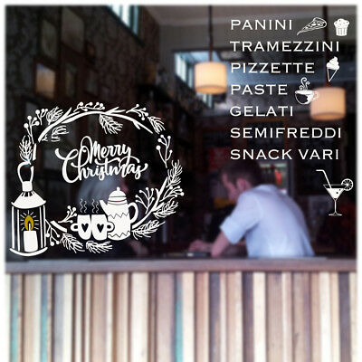 wall sticker adesivo vetrine bar caffè coffee cornetteria aperitivo vetri muri