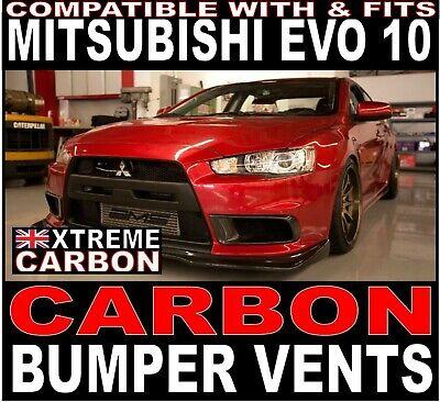 Carbon Fiber Air Intake Duct Vent Fit For Lancer EVO 10 X Front Bumper