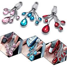 New Rhinestone Water Drop Style Crystal Jewelry Diamond Keychain Ring Universal Fits Kia Soul