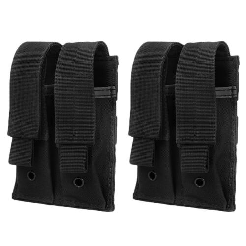Details about  /4X Molle Double Magazine Pouch Elastic Pistol Mag Holder Flashlight Holster EAA