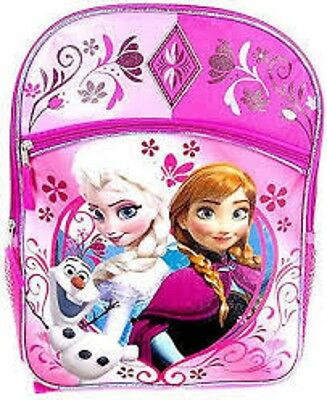 d94b075b318 Disney Frozen Elsa and Anna Olaf Large 16 Backpack Pink Glitery