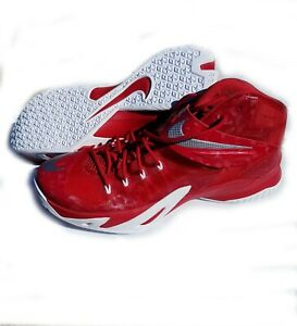 separation shoes aaac9 21d77 Details about Lebron James NIKE Zoom SOLDIER VIII S-8 Red Basketball Shoes  Sz 15, use 1 time