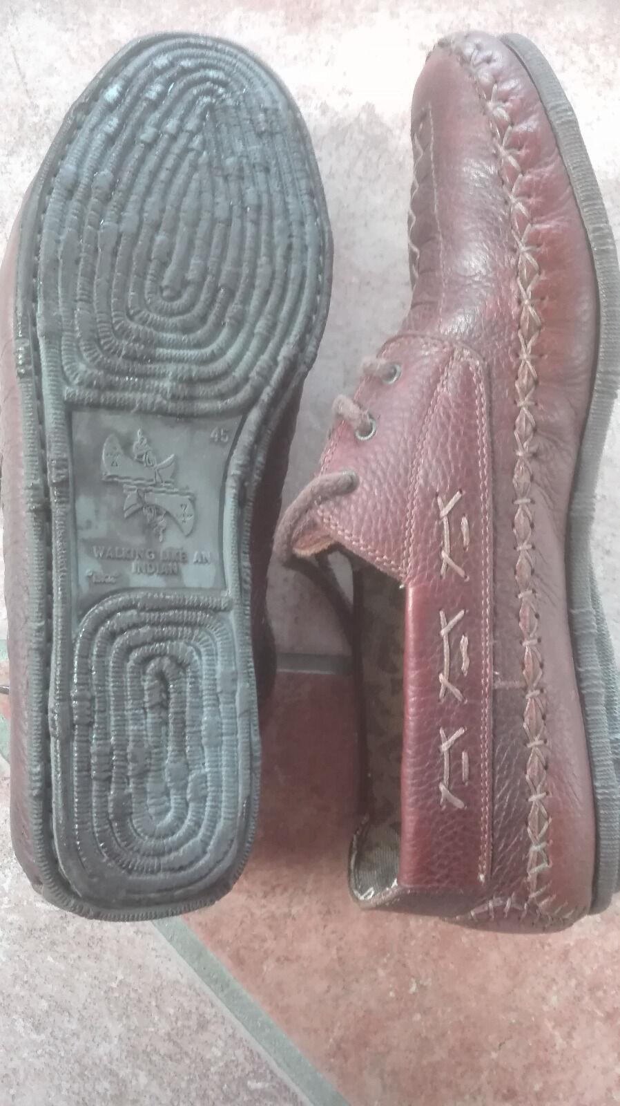 Haugh Leder-Schuhe- Gr. Mokassins Gr. Leder-Schuhe- 45 braun neuwertig 95b683