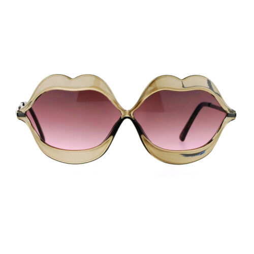 SA106 Love Lip Shape Kiss Womens Sunglasses