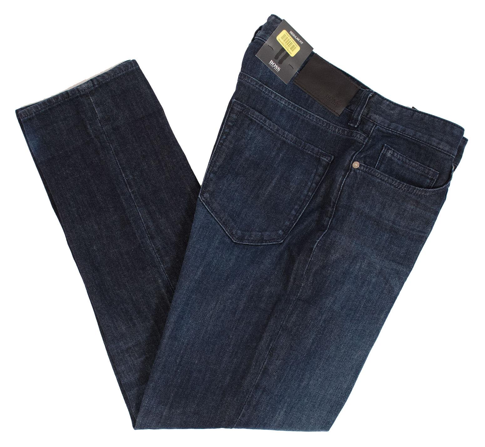 HUGO BOSS MAINE 3 50305967 MEN'S REGULAR FIT STRETCH blueE JEANS PANTS MULTISIZE