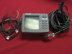 Lowrance-510C-Series-Depth-Finder-Used-Transducer-amp-Power-Cable