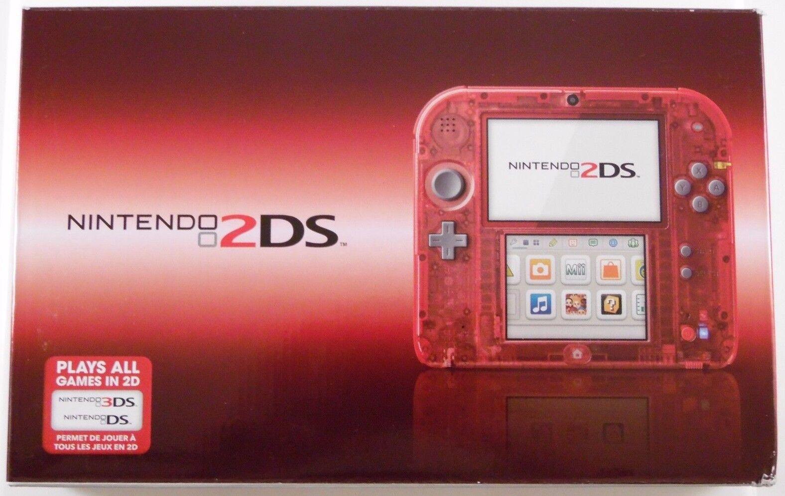 nintendo 2ds crystal red ftrsraaa ebay
