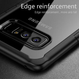 For Samsung Galaxy Note 9 S8 S9 Plus Shockproof Hybrid TPU Clear Hard Case Cover
