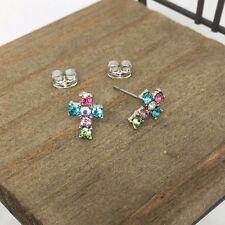 High Quality Cross Titanium Stud Earrings Made in Korea US Seller