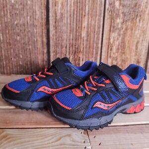 Saucony-Boys-Excursion-A-C-Schuhe-Turnschuhe-blau-orange-grau-US-10-5-M