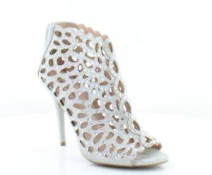 size 7 Zigi Soho Darlah Silver Sandals Strappy Rhinestones Heels Bootie Sandals Silver shoes 8ff98a