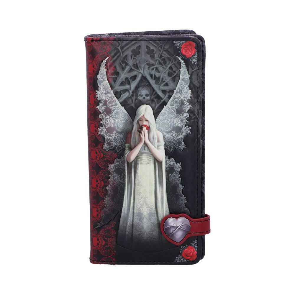 ONLY LOVE REMAINS EMBOSSED PURSE by Anne Stokes 18.5cm Gothic Angel - FREE P+P