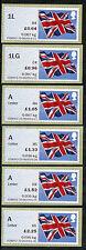 NCR TIIA MA13 FLAG OPEN VALUE (OVs) SET/6 1L,1LG, A x 4 to £2.25 FLAGS POST & GO