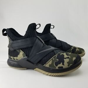 73d55dddc97 Nike Lebron Soldier XII SFG Camo Men s Sz 12 Basketball Shoes AO4054 ...