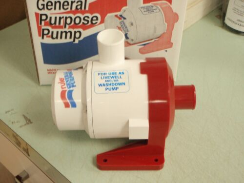 PUMP WASHDOWN GENERAL PURPOSE RULE 3800 GPH 29 17A 12V RULE ALSO LIVEWELLS BAIT