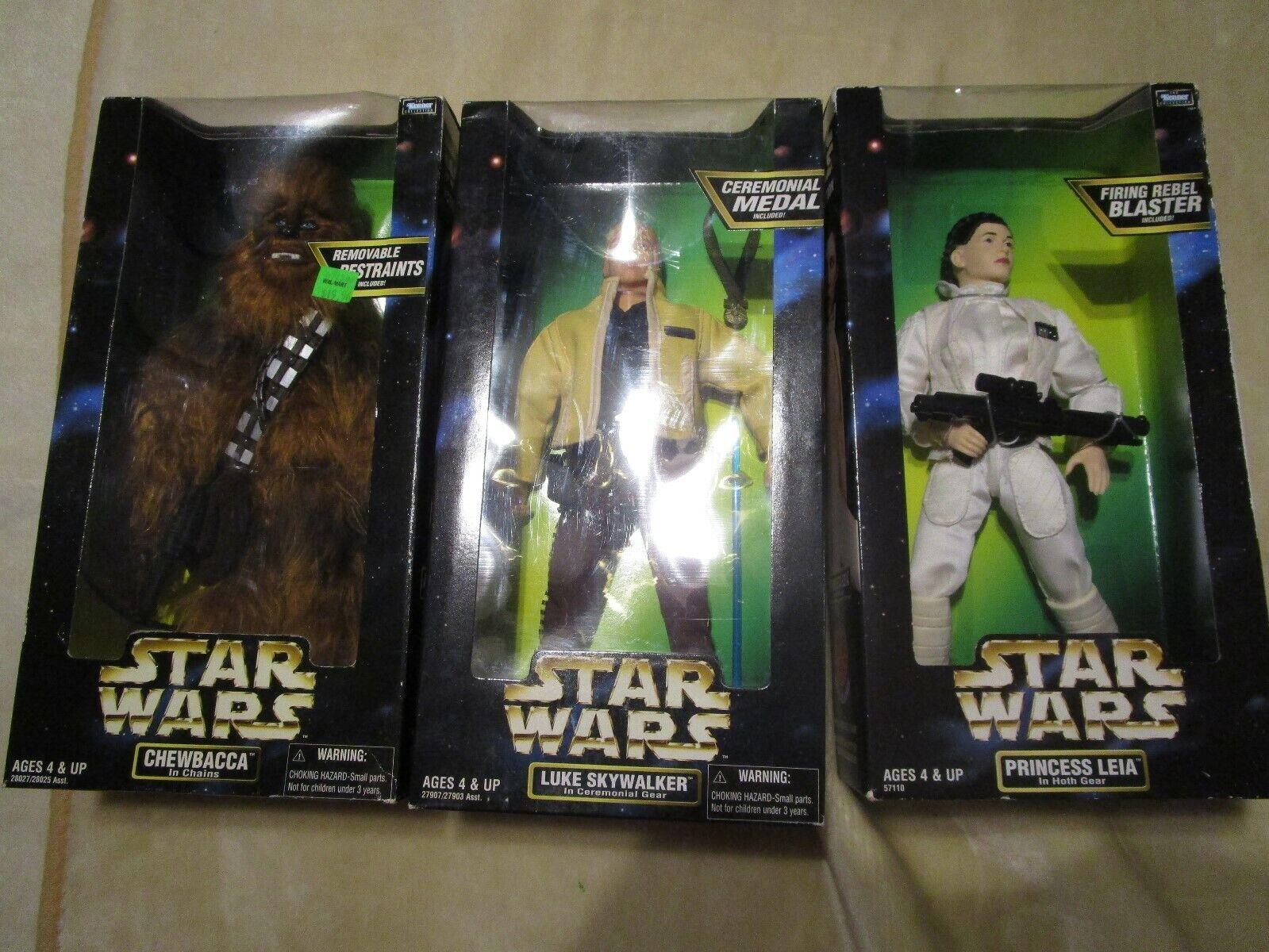 NIB 1998 Star Wars 12  Figure CHEWBACCA in Chains Luke Skywalker  Princess Leia