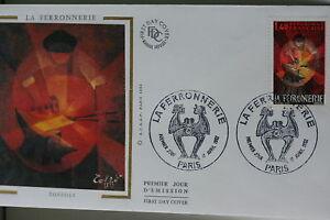 ENVELOPPE-PREMIER-JOUR-SOIE-1982-LA-FERRONNERIE