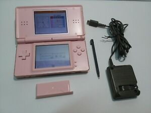 Nintendo-DS-Lite-Pink-Tested-amp-Working-Charger-Stylus-GBA-Cover