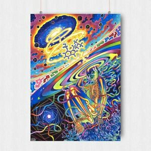 TRIPPY PSYCHEDELIC POSTER WEIRD STRANGE WALL ART PRINT A3 A4 SIZE