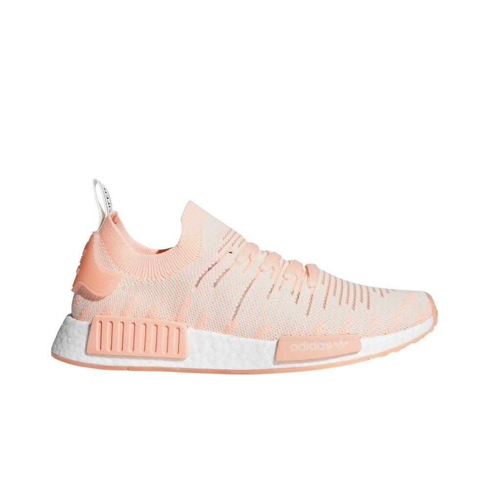 Adidas NMD_R1 STLT Primeknit (Clear Orange/Running White) Women's Shoes AQ1119