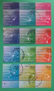 Nederland-NVPH-2581-2592-Sterrenbeelden-2008-horizontale-stroken-gestempeld