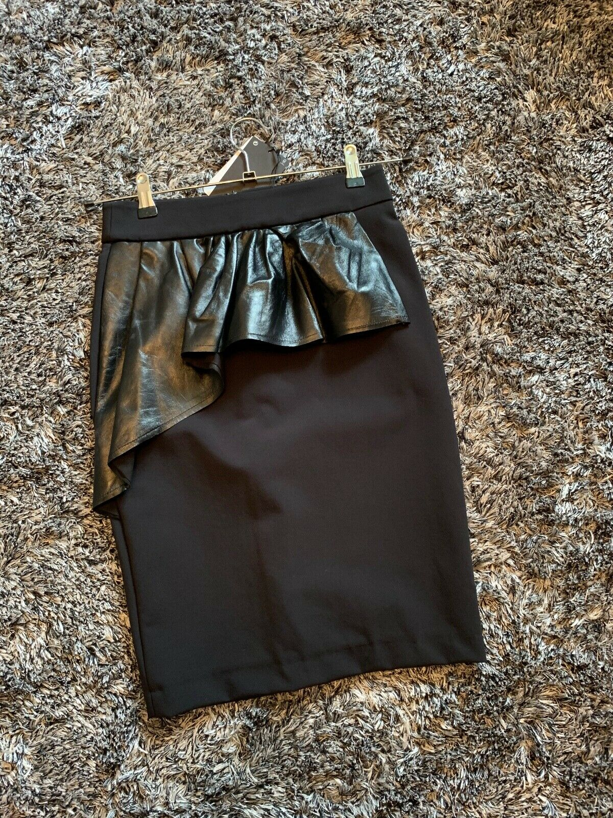 TAGS WITH neu ZARA SMtutti X LEATHER FAUX SKIRT PENCIL