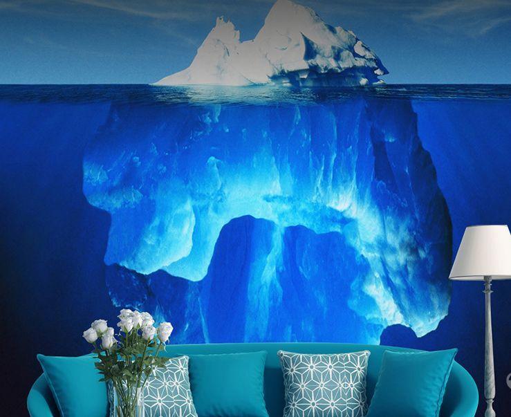 Mega 3D Deep Sea Lceberg Paper Wall Print Decal Wall Deco Indoor Wall Murals