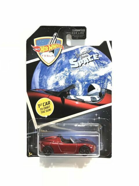 Lot Of 4  2018 Limited Hot Wheels Tesla Roadster Space 1st Car to Orbit the Sun