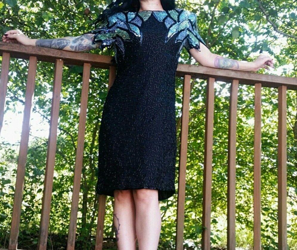 Vintage Scala Sequin Formal Dress Size PM