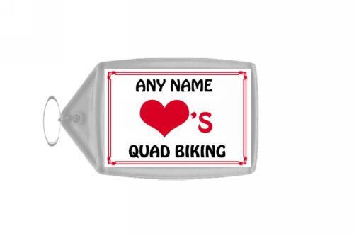 Love Heart Quad Biking Personalised Keyring