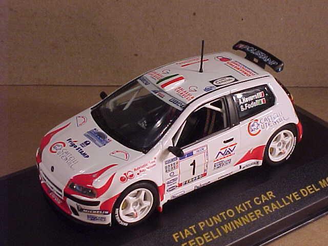 Ixo 1/43 de Metal Fiat Punto Kit Coche,Ganador 2001 Rally Del Moise ,#1# Ram017