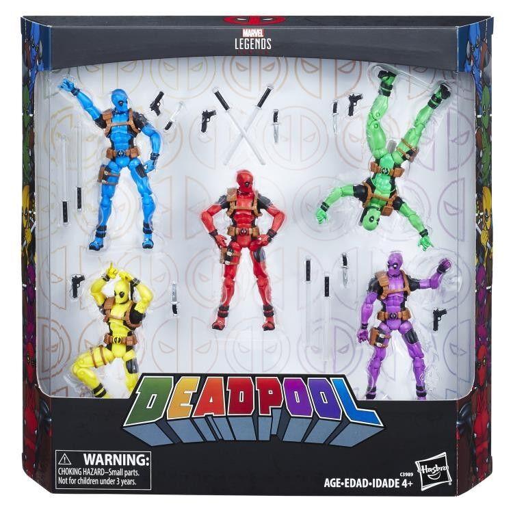 Deadpool Arco Iris escuadrón Figura de Acción 5-Pack