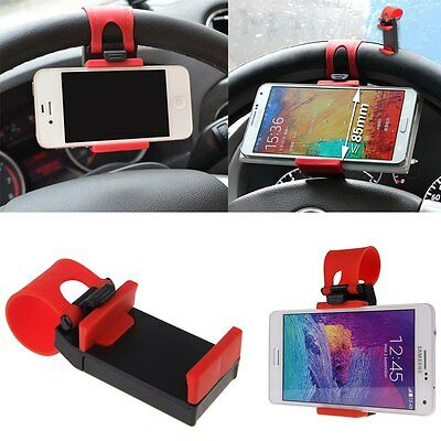Universal Car Steering Wheel Clip Mount Holder Stand Cradle for Mobile Phone GPS