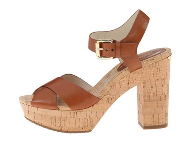 b6dfdf9f2189 Women s MICHAEL Michael Kors NATALIA PLATFORM Kork Heels Sandals Walnut  Luggage