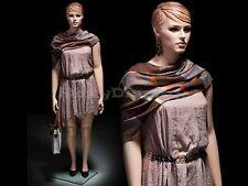 Plus Size Female Fiberglass Mannequin With Molded Hair Dress Form Mz Avis1