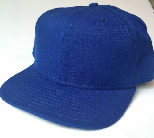 NEW ERA Men's Wool Fitted Baseball Hat Cap ROYAL BLUE Plain Customizable SIZE 7